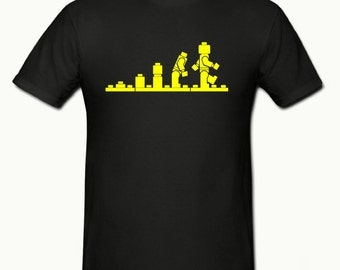 Lego Evolution t shirt,mens t shirt sizes small- 2xl,fathers day gift,dad gift