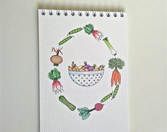 Little notepad - Vegetables design