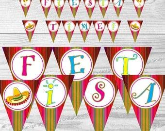 INSTANT DOWNLOAD Fiesta Banner Printable - Printable Fiesta Time Banner - Fiesta Banner - Fiesta Party - Fiesta Printable