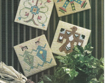 Beautiful Indian Tiles in Plastic Canvas