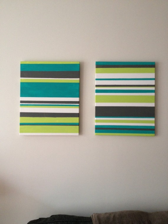 Items similar to multi canvas painting with painters tape for Tape painting on canvas