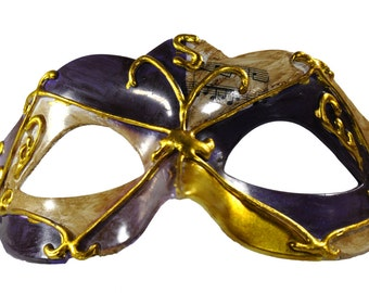 Musical Collection Masquerade Mask Purple