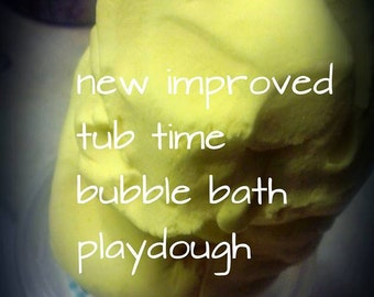 Atomic Balm tub time bubble-bath play-dough recipe the reusable playdough  that you play with in the tub lusciously FUN