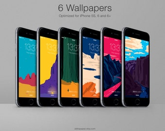 6 Pack - In Space Wallpapers for iPhone 5s, 6, 6+ --- FREE with the full series!