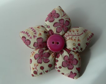 Liberty of London fabric brooch flower brooch Liberty of London fabric brooch flower brooch pink Liberty of London flower
