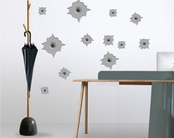 Bullet Hole Decal Etsy