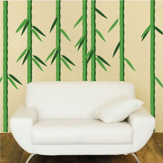 bamboo wall decals bamboo stalks wall murals large by