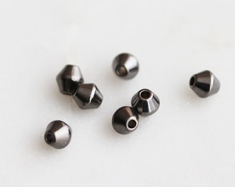40% off ENTIRE STORE // T6-034-M] 4mm / Gunmetal plated / Metal Beads / 10 piece(s)