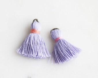 T9-006-LL] Lilac / 22mm / Cotton Tassel / 4 piece(s)