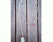 Macrame Interchangeable Hemp, Cotton, Crystal Pouch Necklace, Bonus Mystery Crystal