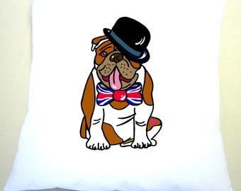 British Bull Dog Cushion Cover