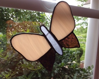 Stained Glass Butterfly Sun Catcher Potted Plant Decoration Original Design