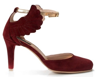 Feya Suede Mary-Jane Shoes