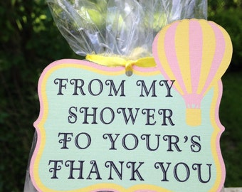 Hot air balloon gift tags, baby shower gift tags,set of 10 gift tags,gift tags,shower tags,hot air ballons