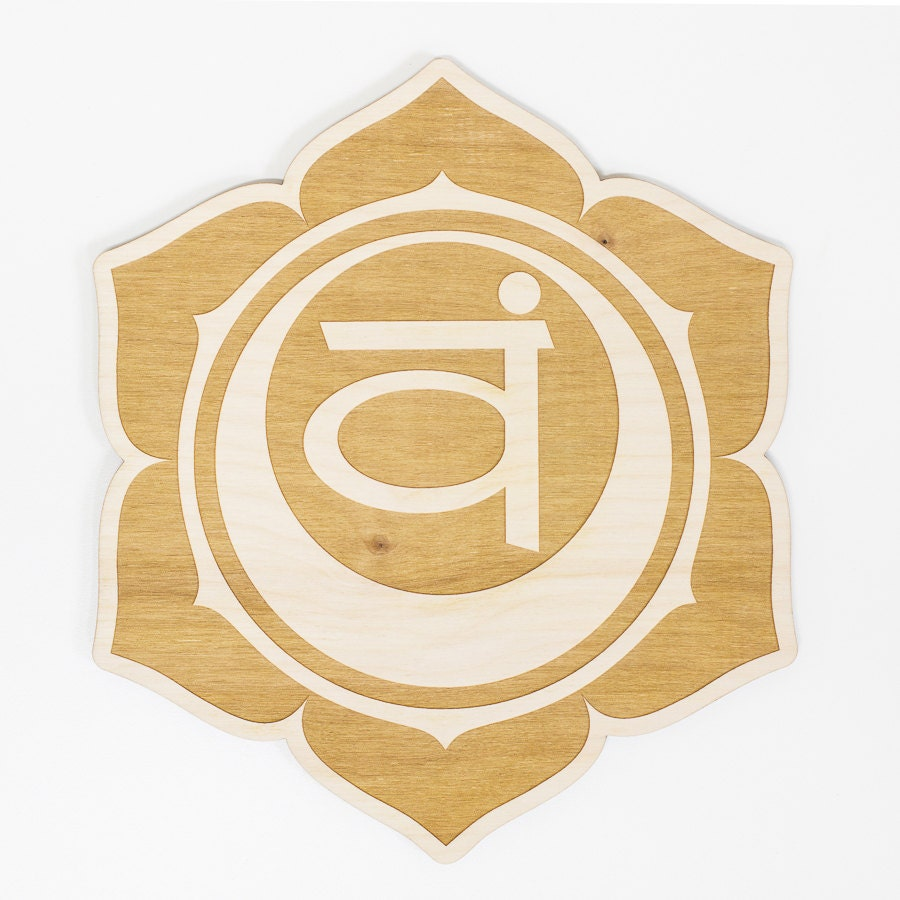 Sacral Chakra Wood Sign - Spiritual Wall Art, Wood Chakra, Chakra ...