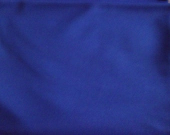 2 1/4 Yds. - Royal Blue Polyester Fabric, 2 1/4 yards, 60in.W, vintage fabric, solid royal blue