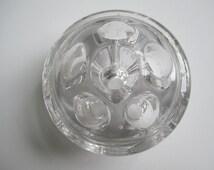 Vintage Glass Flower Frog - Glass Pencil Holder - Glass Pen Holder - Vintage Glassware - Antique Glassware