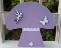 fairy toadstool,  fairy mushroom, butterfly, girls bedroom decor,