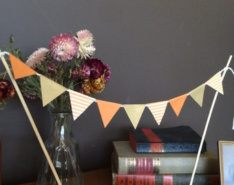 Orange and Gold combo Triangle Banner