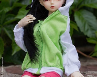 Bjd sd msd minifee green white hoddie