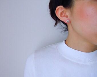 brass-face earrings (circle) .silver.brass.jewelry
