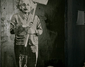 BANKSY Canvas Einstein Love is the Answer Banksy Graffiti Wall Art Print Gallery Wrapped