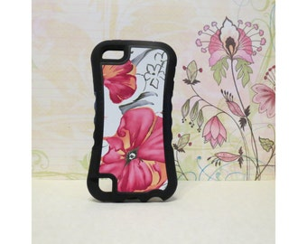 Painted Flowers - Rubber iPod Touch 5 (5th gen) Case