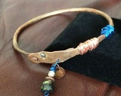 Hand Forged BoHo Copper Bangle Bracelet