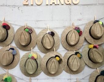 Pompon Panama Hat