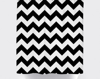 Curtains Ideas black and white patterned curtains : Black and white chevron curtains – Etsy