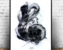 Abstract Art Print, Black and White Art, Printable art, Modern Wall Art, Minimalist Art,  Digital Download, Wall Decor, Black Abstract