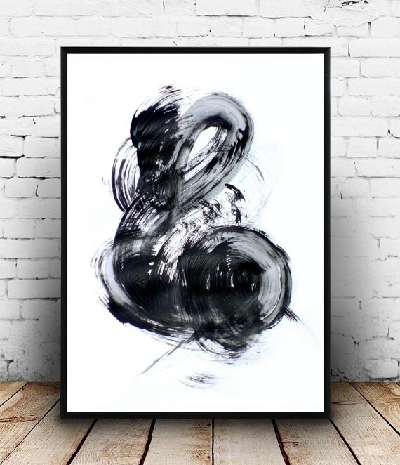 abstract art print black and white art by honeytreeprints