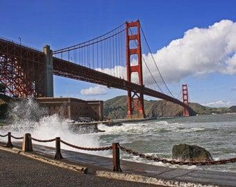 Golden Gate Bridge wave break