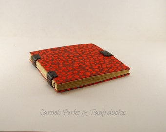 Square book, Coptic binding, 84 pages of quality kraft sheets