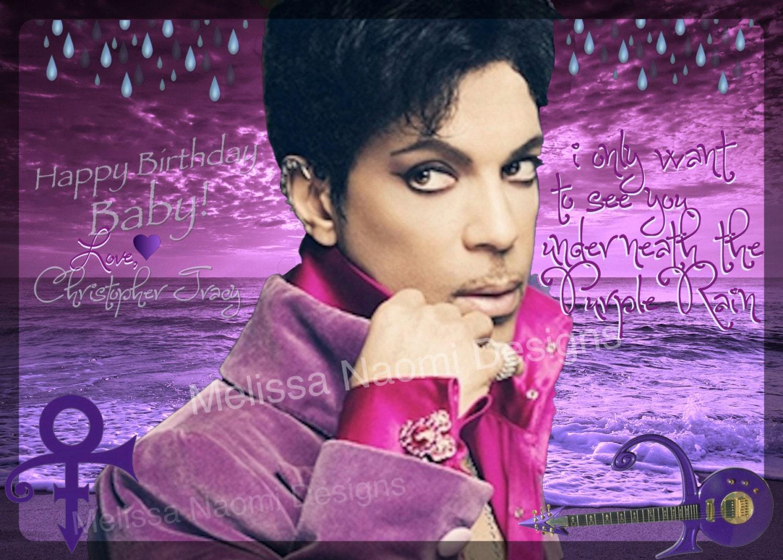 Prince Purple Rain Card Prince Party Invitation Birthday – Birthday Card Lyrics