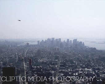 "New York City Photo, Cityscape, Helicopter, ""New York Heli"""