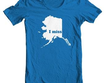 Alaska T-shirt - I Miss Alaska - My State Alaska T-shirt