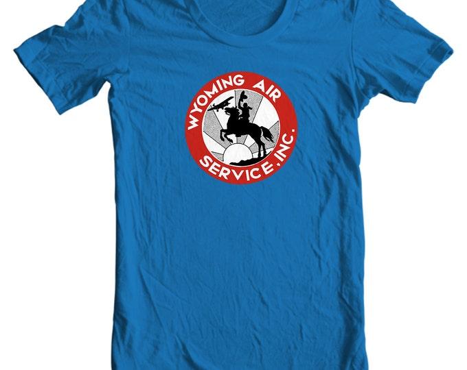 Wyoming Air Services Vintage Travel Sticker T-shirt