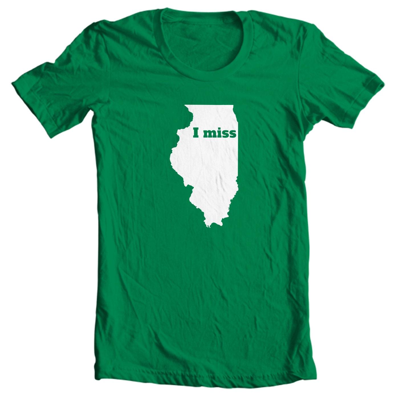 Illinois T-shirt - I Miss Illinois - My State Illinois T-shirt