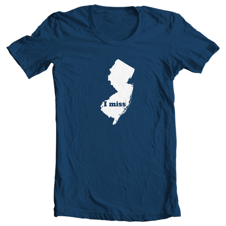 New Jersey T-shirt - I Miss New Jersey - My State New Jersey T-shirt