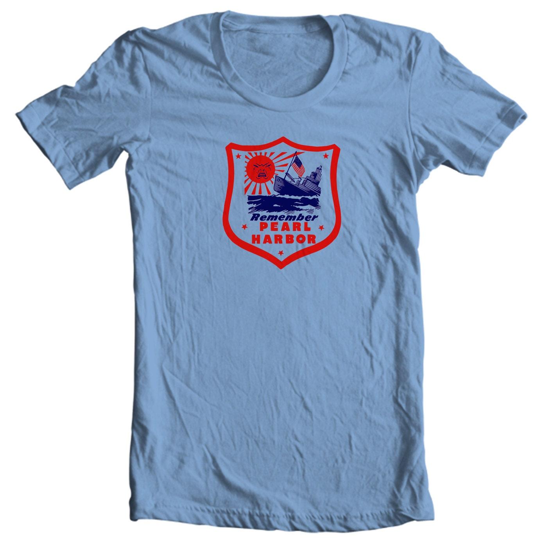 Remember Pearl Harbor World War II Vintage Travel Sticker T-shirt