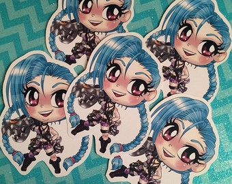 League of Legends Jinx Chibi Sticker
