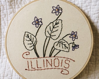 Illinois - Purple Violet 9'' Hoop