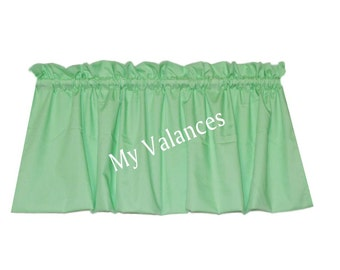 Mint green curtains etsy - Mint green kitchen curtains ...