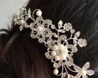 bridal comb, wedding hair comb, wedding comb, bridal hair comb, wedding hair accessories, vintage comb, pearl bridal comb, crystal comb