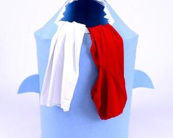 Junior Jaw Felt Shark Laundry Bin and Children Toy Storage Basket