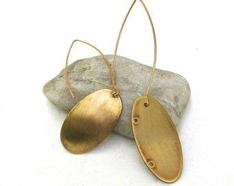 minimal ... industrial  ...  asymmetrical modern up cycled earrings