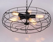 Industrial lighting - Industrial Fan Style Edison Chandelier / Pendant Light