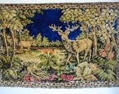 Soviet Vintage Plush Carpet. Russian Style Vintage Cotton Velvet Textile.
