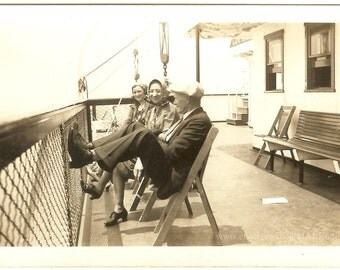 Out for a Cruise, 1938, Vintage Photo Old Photo Antique Black & White Photography Paper Ephemera Collectibles